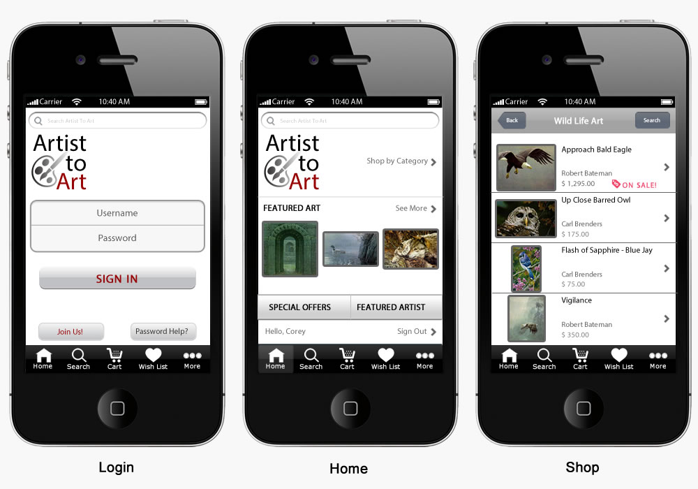 Image of Artist to Art Mobile View