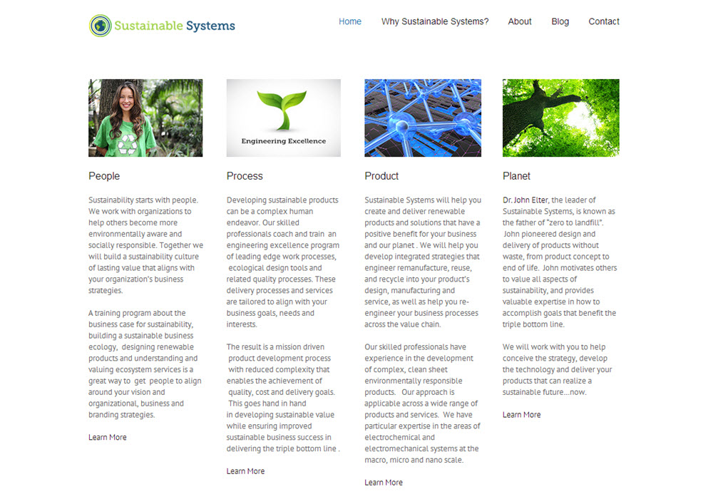Website and Artwork for Sustainable Systems